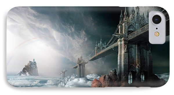Bridges To The Neverland IPhone Case by George Grie