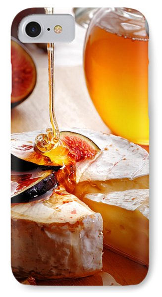Brie Cheese With Figs And Honey IPhone Case by Johan Swanepoel