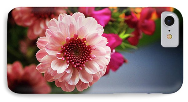 Bright Pink Floral 2- Art By Linda Woods IPhone Case by Linda Woods