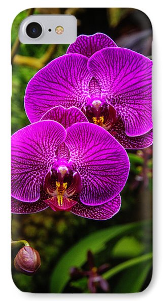 Bright Purple Orchids IPhone 7 Case by Garry Gay