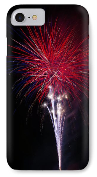 Bright Red Fireworks IPhone Case by Garry Gay