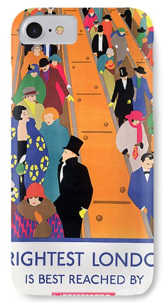 Brightest London Is Best Reached By Underground IPhone Case by Horace Taylor