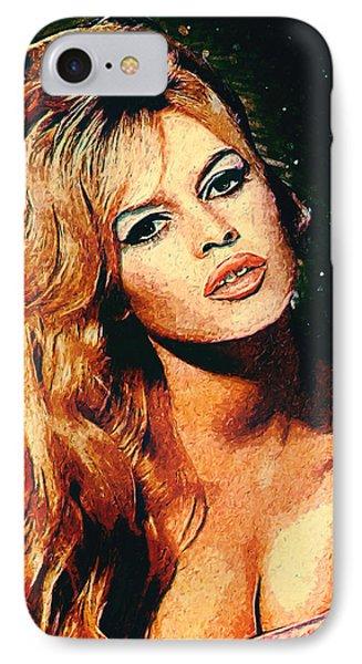 Brigitte Bardot IPhone 7 Case by Taylan Apukovska