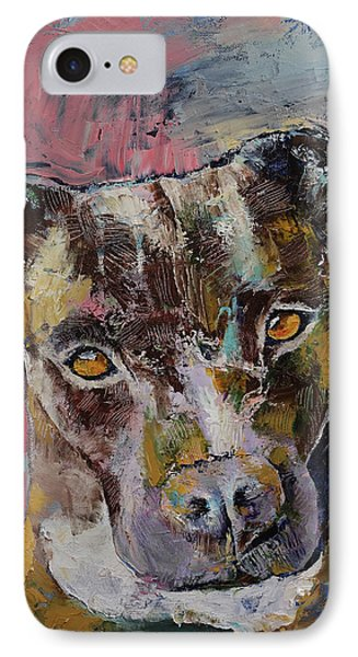 Brindle Bully IPhone Case by Michael Creese