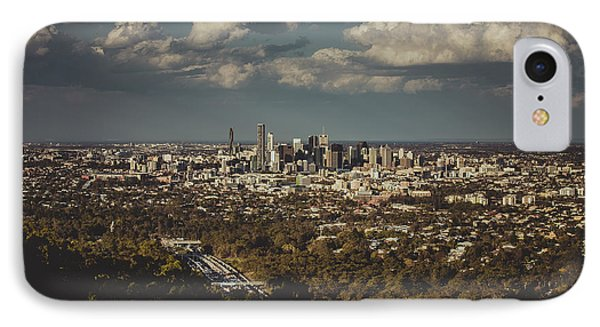 Brisbane Cityscape From Mount Cootha #3 IPhone Case by Stanislav Kaplunov