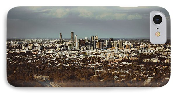 Brisbane Cityscape From Mount Cootha #5 IPhone Case by Stanislav Kaplunov