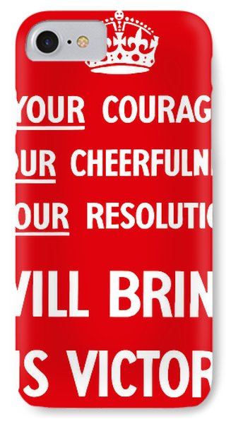 British Ww2 Propaganda Phone Case by War Is Hell Store
