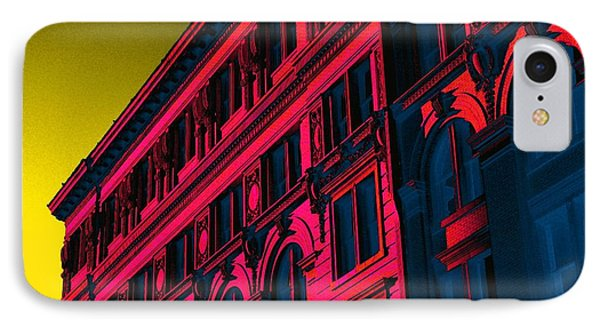 Broadway 118 In Fuschia IPhone 7 Case by Edgar Farrera