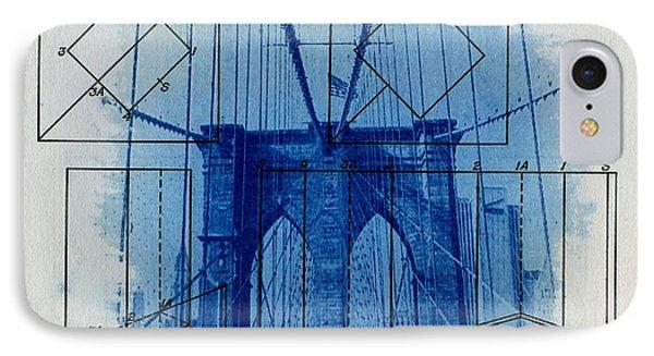Brooklyn Bridge IPhone 7 Case by Jane Linders