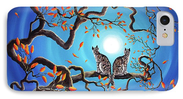 Brothers Under A Blue Moon IPhone Case by Laura Iverson
