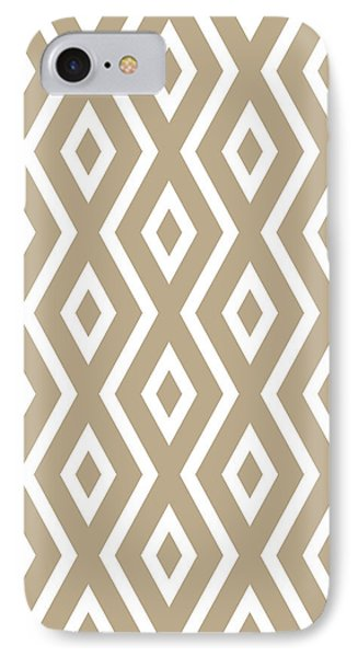 Brown Pattern IPhone Case by Christina Rollo