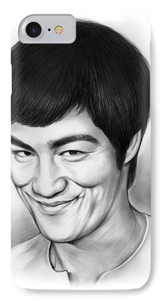 Bruce Lee IPhone Case by Greg Joens