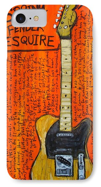 Bruce Springsteen's Fender Esquire IPhone 7 Case by Karl Haglund