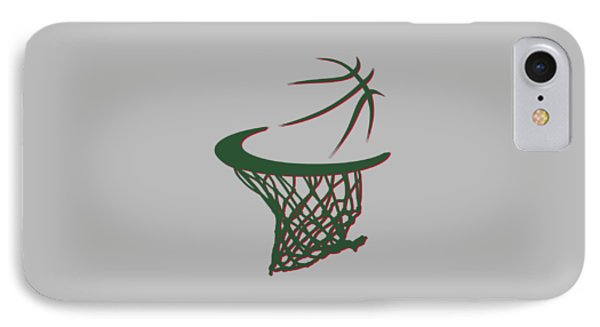 Bucks Basketball Hoop IPhone Case by Joe Hamilton