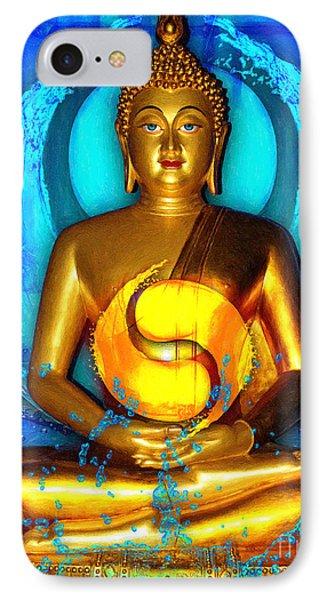 Buddha Yin Yang IPhone Case by Khalil Houri