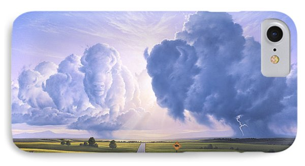 Buffalo Crossing IPhone Case by Jerry LoFaro