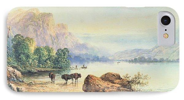 Buffalo Watering IPhone Case by Thomas Moran