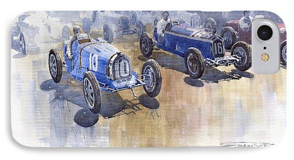 Bugatti 51 Alfa Romeo 8c 1933 Monaco Gp IPhone Case by Yuriy  Shevchuk