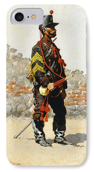 Bugler Of The Cavalry IPhone Case by Frederic Remington