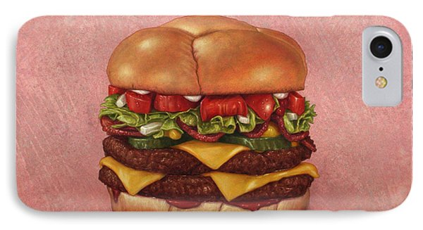 Burger IPhone Case by James W Johnson