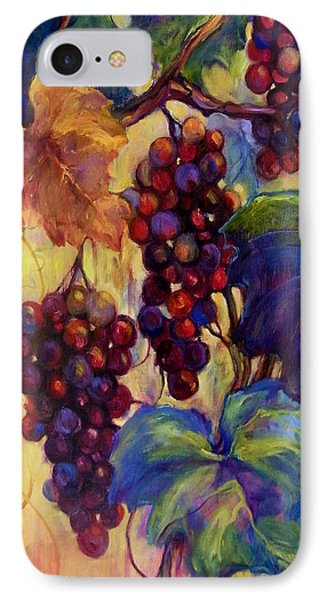 Burgundy Grapes Phone Case by Peggy Wilson