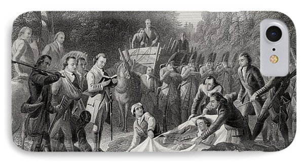 Burial Of General Edward Braddock In IPhone Case by Vintage Design Pics
