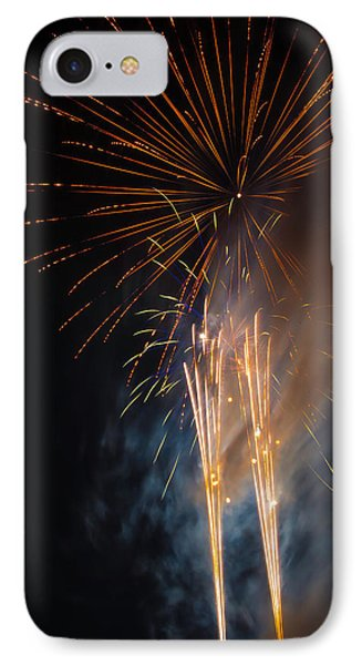 Bursting Colorful Fireworks IPhone Case by Garry Gay