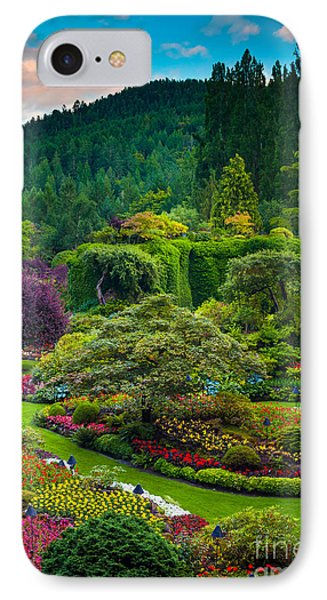 Butchart Gardens Sunset IPhone Case by Inge Johnsson