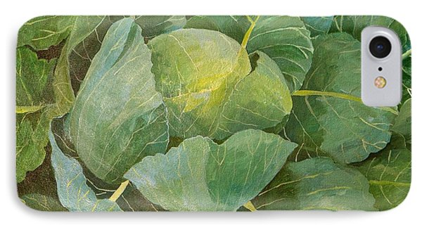 Cabbage IPhone 7 Case by Jennifer Abbot