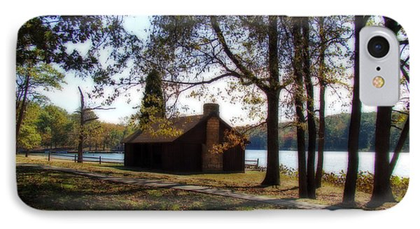 Cabin By The Lake Phone Case by Sandy Keeton
