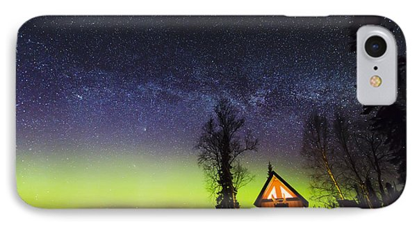 Cabins Glow IPhone Case by Ed Boudreau