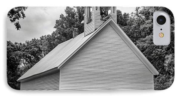 Cades Cove Primitive Baptist Church - Bw 1 IPhone Case by Stephen Stookey