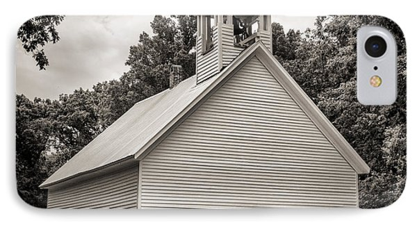 Cades Cove Primitive Baptist Church - Toned Bw IPhone Case by Stephen Stookey
