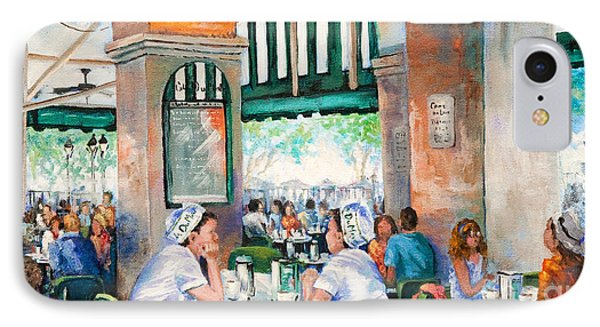 Cafe Girls Phone Case by Dianne Parks