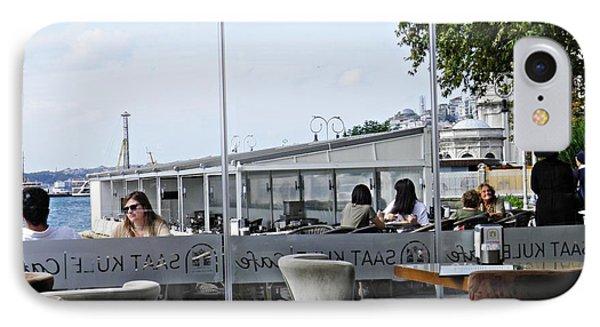 Cafe On The Bosphorus IPhone Case by Sarah Loft