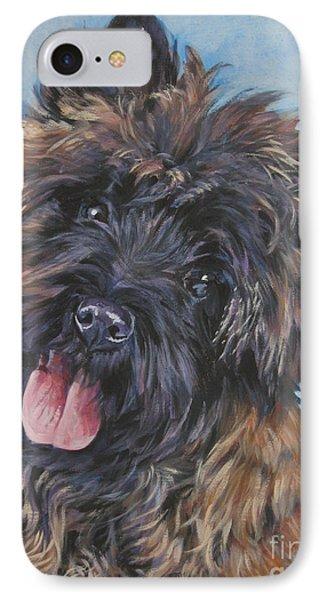 Cairn Terrier Brindle IPhone Case by Lee Ann Shepard