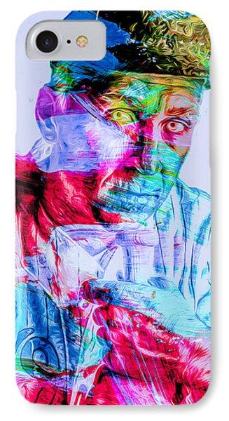 Cal Ripken Jr Baltimore Oriole Painted Digitally IPhone Case by David Haskett