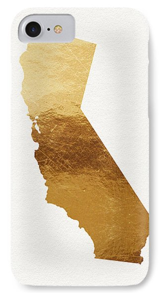 California Gold- Art By Linda Woods IPhone Case by Linda Woods