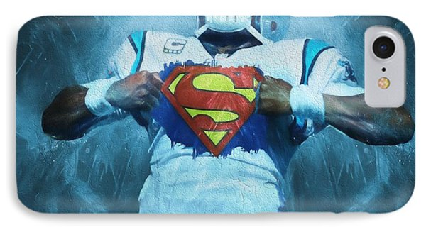 Cam Newton Superman IPhone Case by Dan Sproul