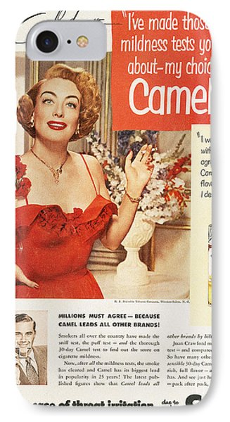 Camel Cigarette Ad, 1951 IPhone Case by Granger