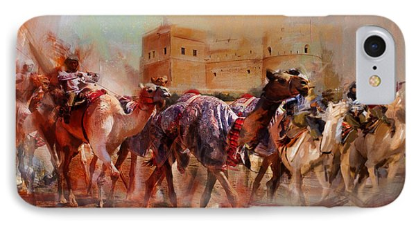 Camels And Desert 37 IPhone Case by Mahnoor Shah