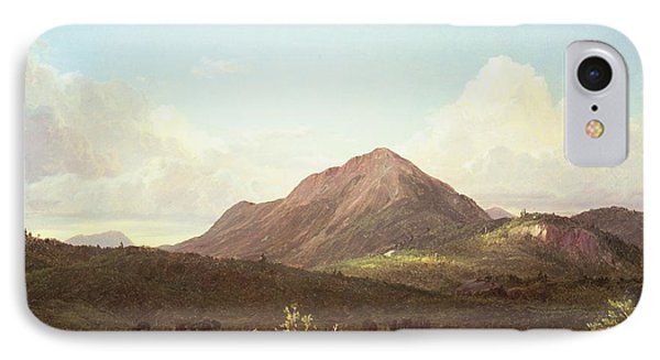 Camp Fire In The Maine Wilderness Phone Case by Frederic Edwin Church