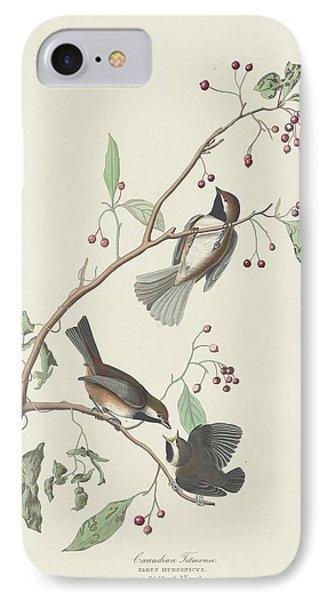 Canadian Titmouse IPhone 7 Case by John James Audubon