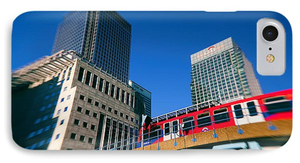 Canary Wharf Commute IPhone Case by Jasna Buncic