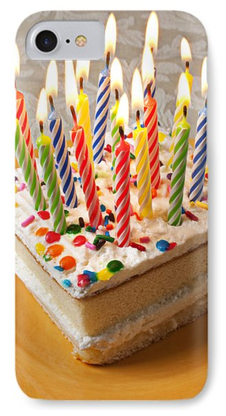 Candles On Birthday Cake Phone Case by Garry Gay
