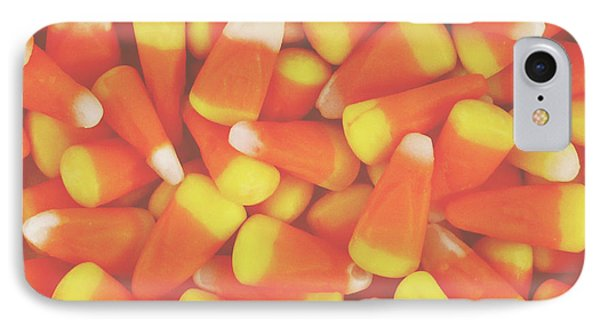 Candy Corn Square- By Linda Woods IPhone Case by Linda Woods