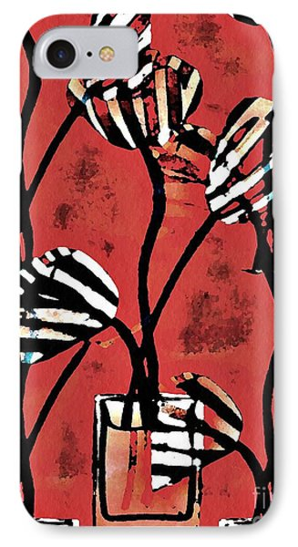 Candy Stripe Tulips 2 IPhone Case by Sarah Loft