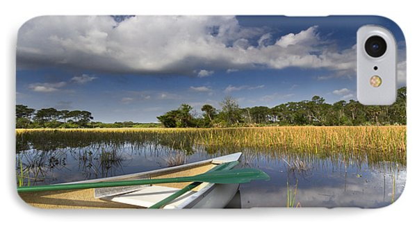 Canoeing In The Everglades Phone Case by Debra and Dave Vanderlaan