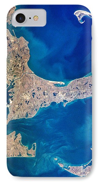 Cape Cod And Islands Spring 1997 View From Satellite IPhone Case by Matt Suess