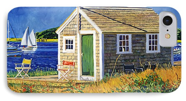 Cape Cod Boat House IPhone Case by David Lloyd Glover